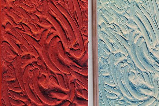 Kaeley,-Acrylic-and-spray-paint-on-board,-Plaster-and-spray-paint-on-board-(Detail)