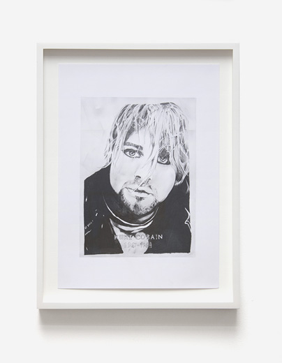 Graham Dolphin, Fan Drawings (Kurt Cobain), Detail 5